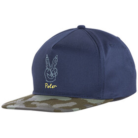POLER Peace Paw Snapback - Couvre-chef - bleu